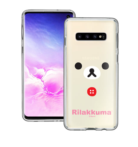 Galaxy S10e Case (5.8inch) Rilakkuma Clear TPU Cute Soft Jelly Cover - Face Korilakkuma