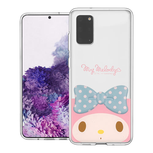 Galaxy S20 Ultra Case (6.9inch) My Melody Face Cute Bow Ribbon Clear Jelly Cover - Face My Melody