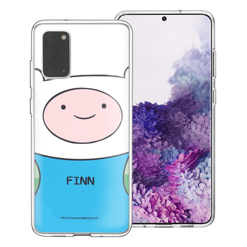 Galaxy Note20 Ultra Case (6.9inch) Adventure Time Clear TPU Cute Soft Jelly Cover - Face Finn Mertens