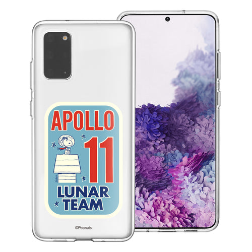 Galaxy S20 Ultra Case (6.9inch) PEANUTS Clear TPU Cute Soft Jelly Cover - Apollo 11