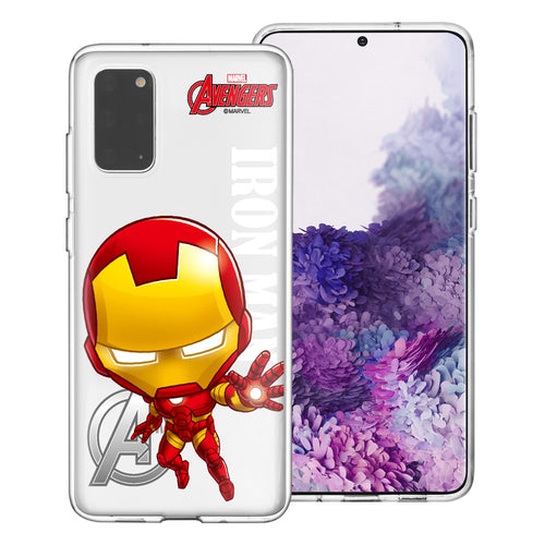Galaxy Note20 Ultra Case (6.9inch) Marvel Avengers Soft Jelly TPU Cover - Mini Iron Man