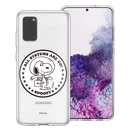 Galaxy S20 Ultra Case (6.9inch) PEANUTS Clear TPU Cute Soft Jelly Cover - Apollo Stamp