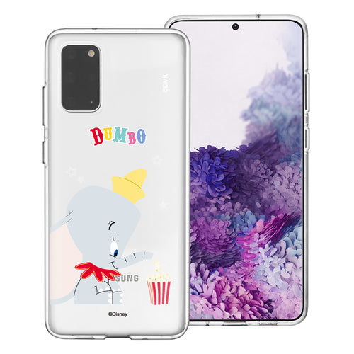 Galaxy Note20 Case (6.7inch) Disney Clear TPU Cute Soft Jelly Cover - Dumbo Popcorn