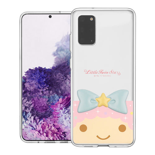Galaxy S20 Ultra Case (6.9inch) Little Twin Stars Girl Face Cute Bow Ribbon Clear Jelly Cover - Face Little Twin Stars Lala
