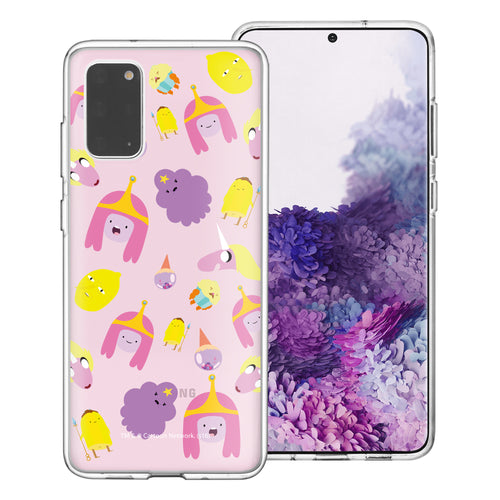 Galaxy Note20 Ultra Case (6.9inch) Adventure Time Clear TPU Cute Soft Jelly Cover - Cuty Pattern Pink