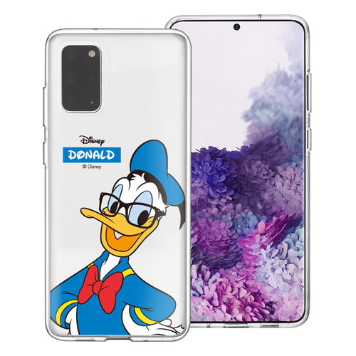 Galaxy Note20 Case (6.7inch) Disney Clear TPU Cute Soft Jelly Cover - Glasses Donald Duck
