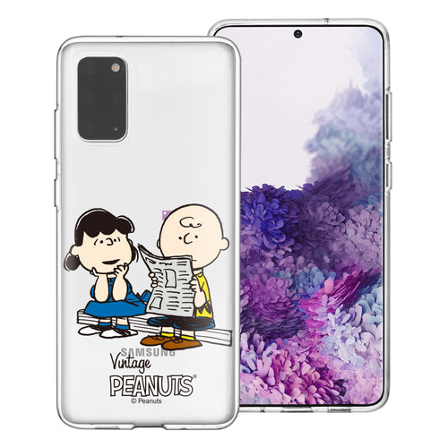 Galaxy Note20 Ultra Case (6.9inch) PEANUTS Clear TPU Cute Soft Jelly Cover - Vivid Charlie Brown Lucy