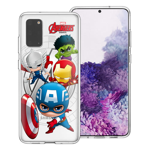 Galaxy S20 Case (6.2inch) Marvel Avengers Soft Jelly TPU Cover - Mini Avengers