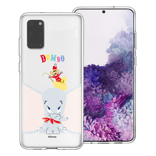 Galaxy S20 Case (6.2inch) Disney Clear TPU Cute Soft Jelly Cover - Dumbo Overhead