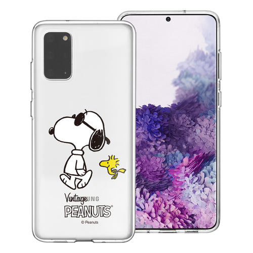 Galaxy S20 Ultra Case (6.9inch) PEANUTS Clear TPU Cute Soft Jelly Cover - Vivid Snoopy Woodstock