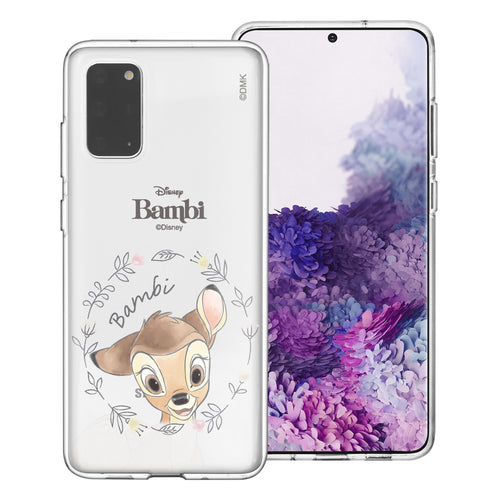 Galaxy S20 Case (6.2inch) Disney Clear TPU Cute Soft Jelly Cover - Face Bambi