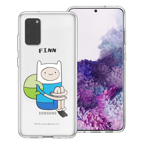 Galaxy Note20 Ultra Case (6.9inch) Adventure Time Clear TPU Cute Soft Jelly Cover - Full Finn