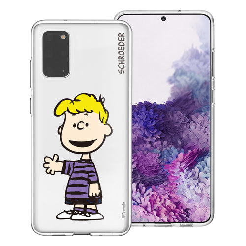Galaxy S20 Ultra Case (6.9inch) PEANUTS Clear TPU Cute Soft Jelly Cover - Smile Schroeder