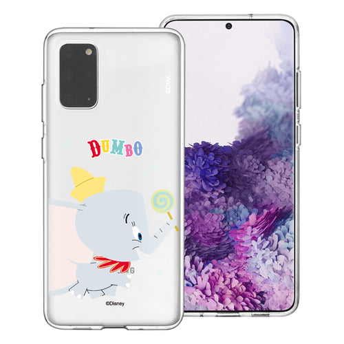 Galaxy Note20 Case (6.7inch) Disney Clear TPU Cute Soft Jelly Cover - Dumbo Candy