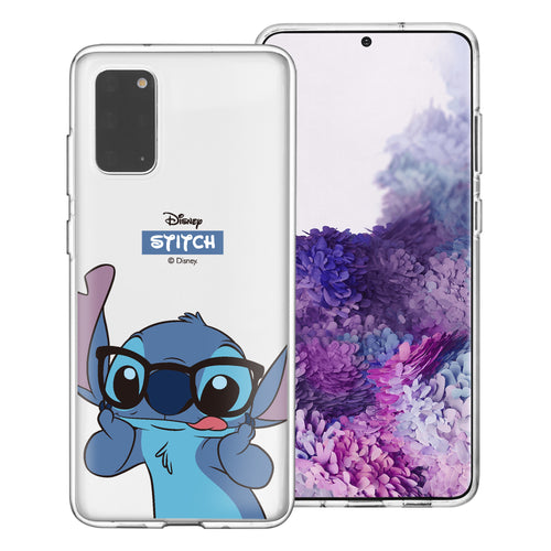 Galaxy S20 Case (6.2inch) Disney Clear TPU Cute Soft Jelly Cover - Glasses Stitch