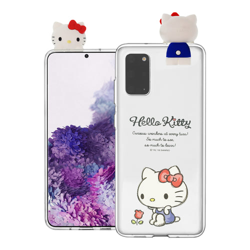 Galaxy S20 Ultra Case (6.9inch) Hello Kitty Cute Figure Doll Soft Jelly Cover for - Figure Hello Kitty Sitting