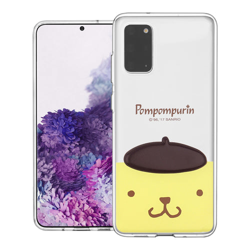 Galaxy S20 Ultra Case (6.9inch) Pompompurin Face Cute Hat Clear Jelly Cover - Face Pompompurin