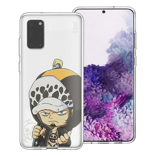 Galaxy Note20 Case (6.7inch) ONE PIECE Clear TPU Cute Soft Jelly Cover - Mini Law