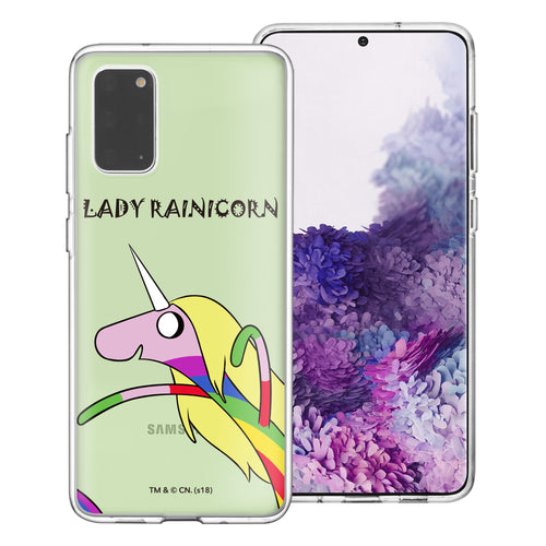 Galaxy Note20 Ultra Case (6.9inch) Adventure Time Clear TPU Cute Soft Jelly Cover - Lovely Lady Rainicorn