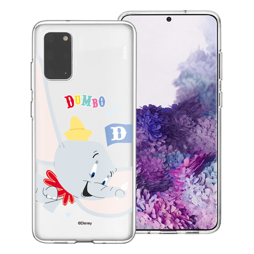 Galaxy Note20 Case (6.7inch) Disney Clear TPU Cute Soft Jelly Cover - Dumbo Fly