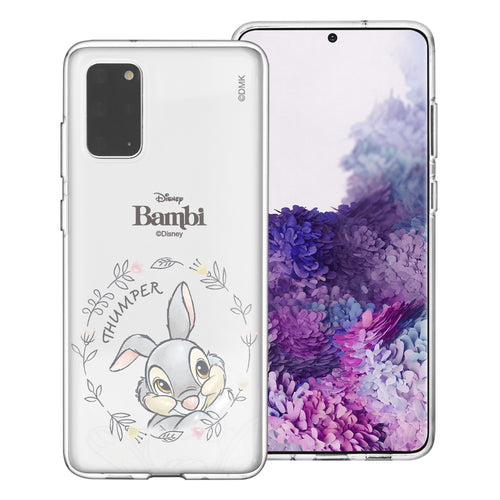Galaxy S20 Case (6.2inch) Disney Clear TPU Cute Soft Jelly Cover - Face Thumper