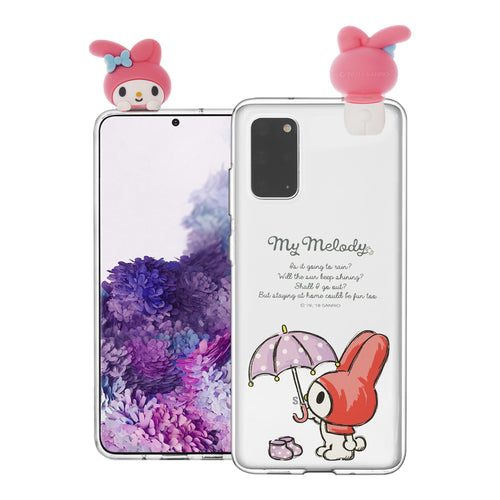 Galaxy S20 Ultra Case (6.9inch) My Melody Cute Figure Doll Soft Jelly Cover for - Figure My Melody
