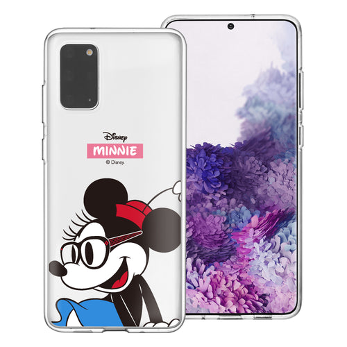 Galaxy Note20 Case (6.7inch) Disney Clear TPU Cute Soft Jelly Cover - Glasses Minnie Mouse