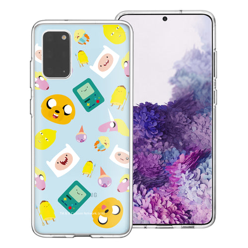 Galaxy Note20 Ultra Case (6.9inch) Adventure Time Clear TPU Cute Soft Jelly Cover - Cuty Pattern Blue