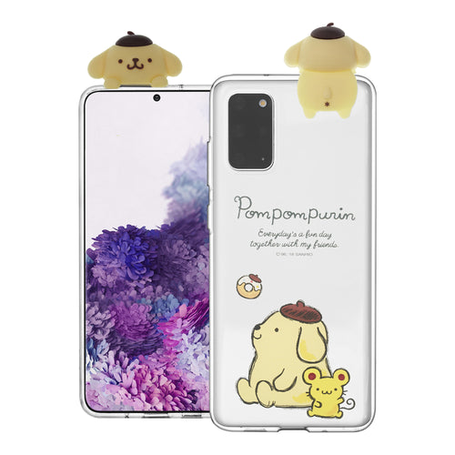 Galaxy S20 Ultra Case (6.9inch) Pompompurin Cute Figure Doll Soft Jelly Cover for - Figure Pompompurin