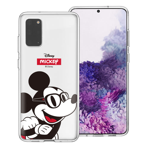 Galaxy S20 Case (6.2inch) Disney Clear TPU Cute Soft Jelly Cover - Glasses Mickey Mouse