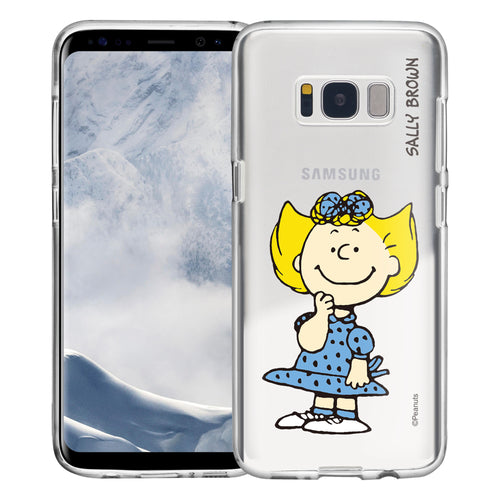 Galaxy S8 Plus Case PEANUTS Clear TPU Cute Soft Jelly Cover - Smile Sally