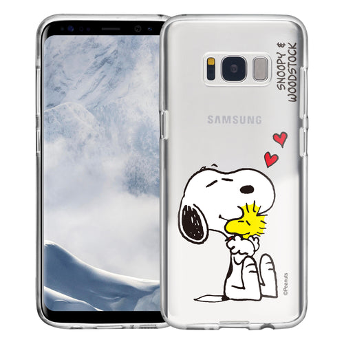 Galaxy S8 Plus Case PEANUTS Clear TPU Cute Soft Jelly Cover - Smile Snoopy