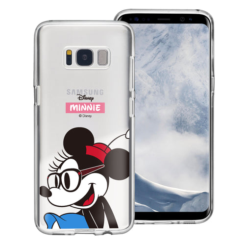 Galaxy S8 Plus Case Disney Clear TPU Cute Soft Jelly Cover - Glasses Minnie Mouse
