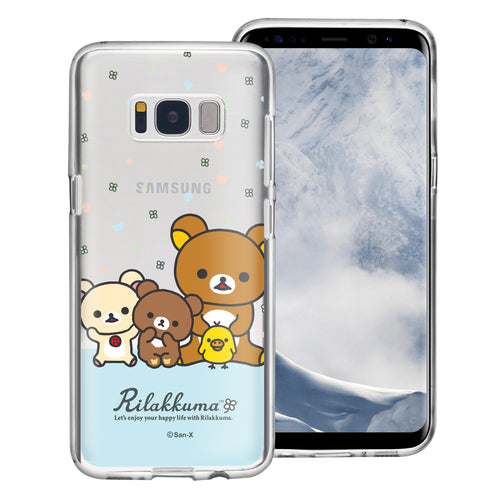 Galaxy Note4 Case Rilakkuma Clear TPU Cute Soft Jelly Cover - Rilakkuma Friends