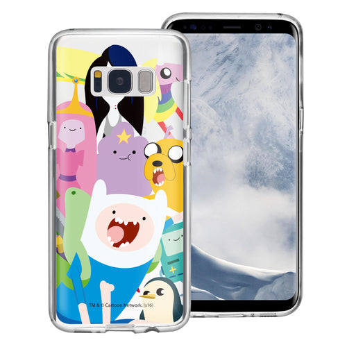 Galaxy S8 Case (5.8inch) Adventure Time Clear TPU Cute Soft Jelly Cover - Cuty Adventure Time