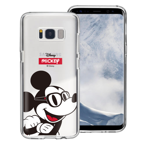 Galaxy S8 Case (5.8inch) Disney Clear TPU Cute Soft Jelly Cover - Glasses Mickey Mouse