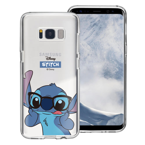 Galaxy S8 Case (5.8inch) Disney Clear TPU Cute Soft Jelly Cover - Glasses Stitch