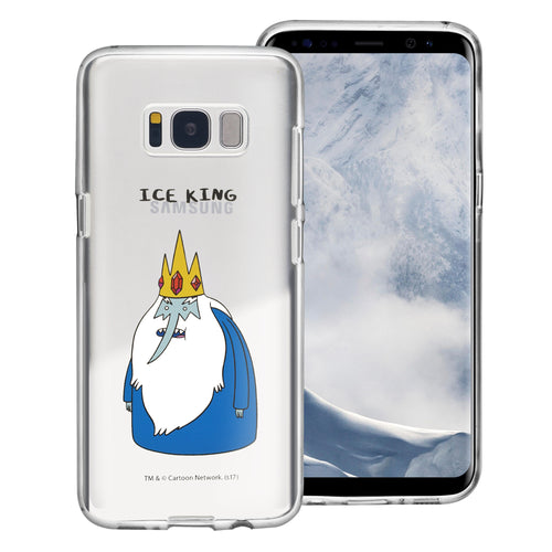 Galaxy S6 Edge Case Adventure Time Clear TPU Cute Soft Jelly Cover - Full Ice King