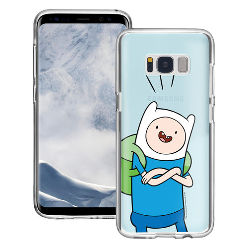 Galaxy S8 Plus Case Adventure Time Clear TPU Cute Soft Jelly Cover - Vivid Finn