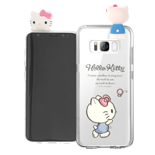 Galaxy S8 Case (5.8inch) Hello Kitty Cute Figure Doll Soft Jelly Cover for - Figure Hello Kitty Walking