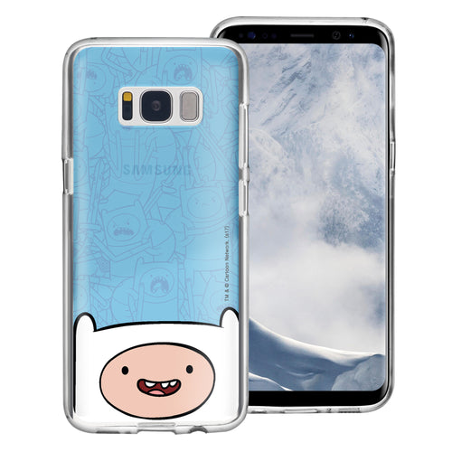 Galaxy S8 Plus Case Adventure Time Clear TPU Cute Soft Jelly Cover - Pattern Finn Big