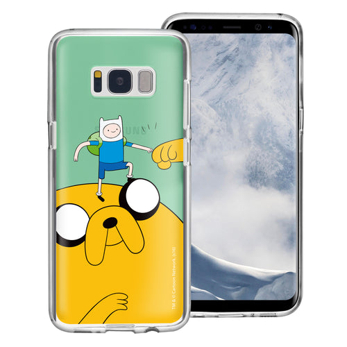 Galaxy S8 Plus Case Adventure Time Clear TPU Cute Soft Jelly Cover - Cuty Jake Big