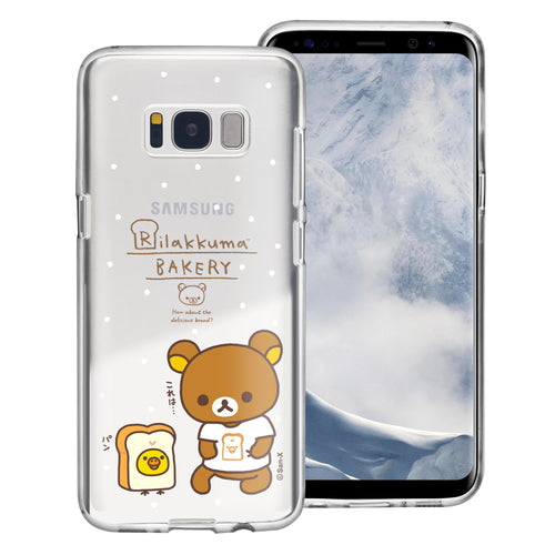 Galaxy Note4 Case Rilakkuma Clear TPU Cute Soft Jelly Cover - Rilakkuma Bread