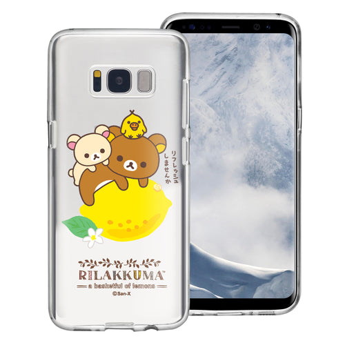 Galaxy S8 Plus Case Rilakkuma Clear TPU Cute Soft Jelly Cover - Rilakkuma Lemon