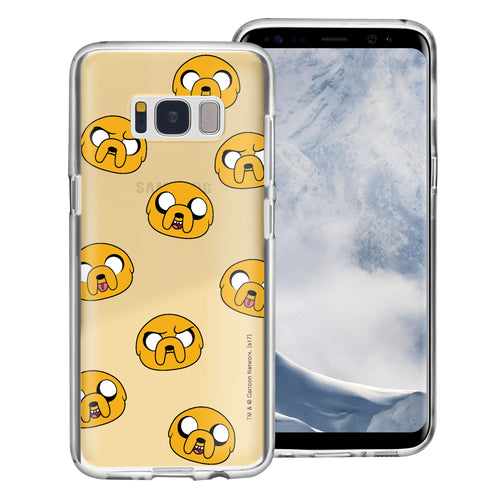 Galaxy S6 Edge Case Adventure Time Clear TPU Cute Soft Jelly Cover - Pattern Jake