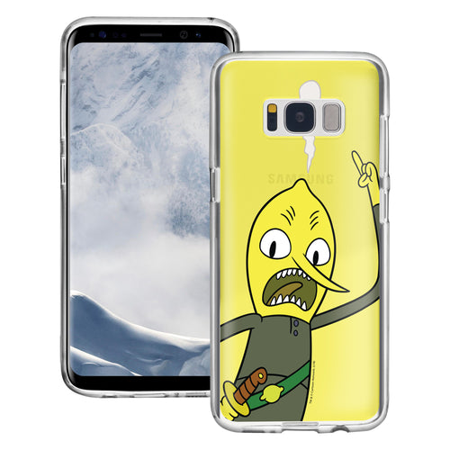 Galaxy S8 Plus Case Adventure Time Clear TPU Cute Soft Jelly Cover - Vivid Lemongrab