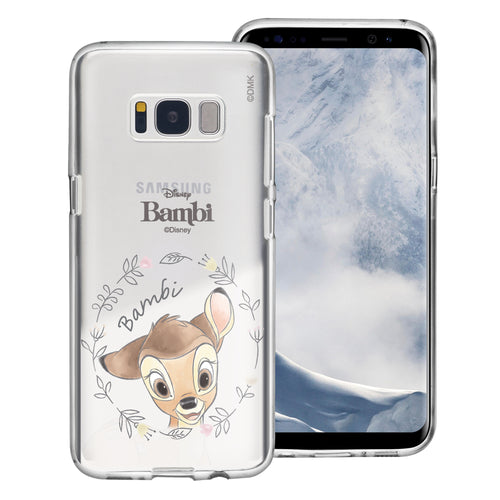 Galaxy Note5 Case Disney Clear TPU Cute Soft Jelly Cover - Face Bambi