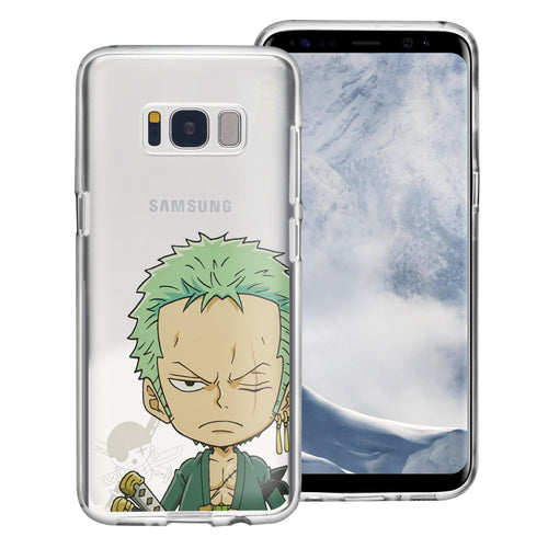 Galaxy S8 Plus Case ONE PIECE Clear TPU Cute Soft Jelly Cover - Mini Zoro
