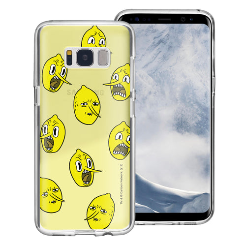 Galaxy S6 Edge Case Adventure Time Clear TPU Cute Soft Jelly Cover - Pattern Lemongrab