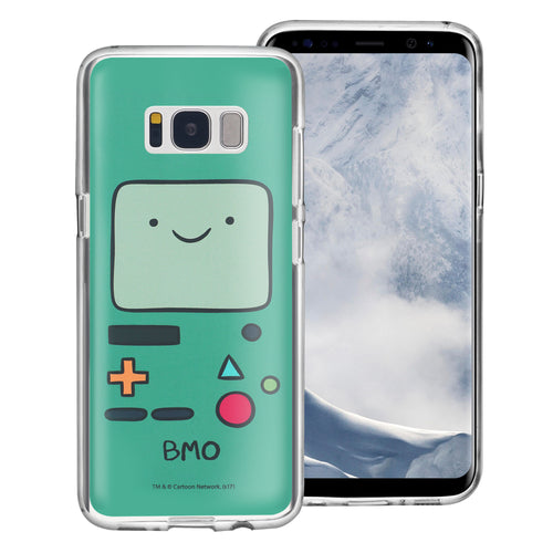 Galaxy S6 Edge Case Adventure Time Clear TPU Cute Soft Jelly Cover - Face Beemo (BMO)